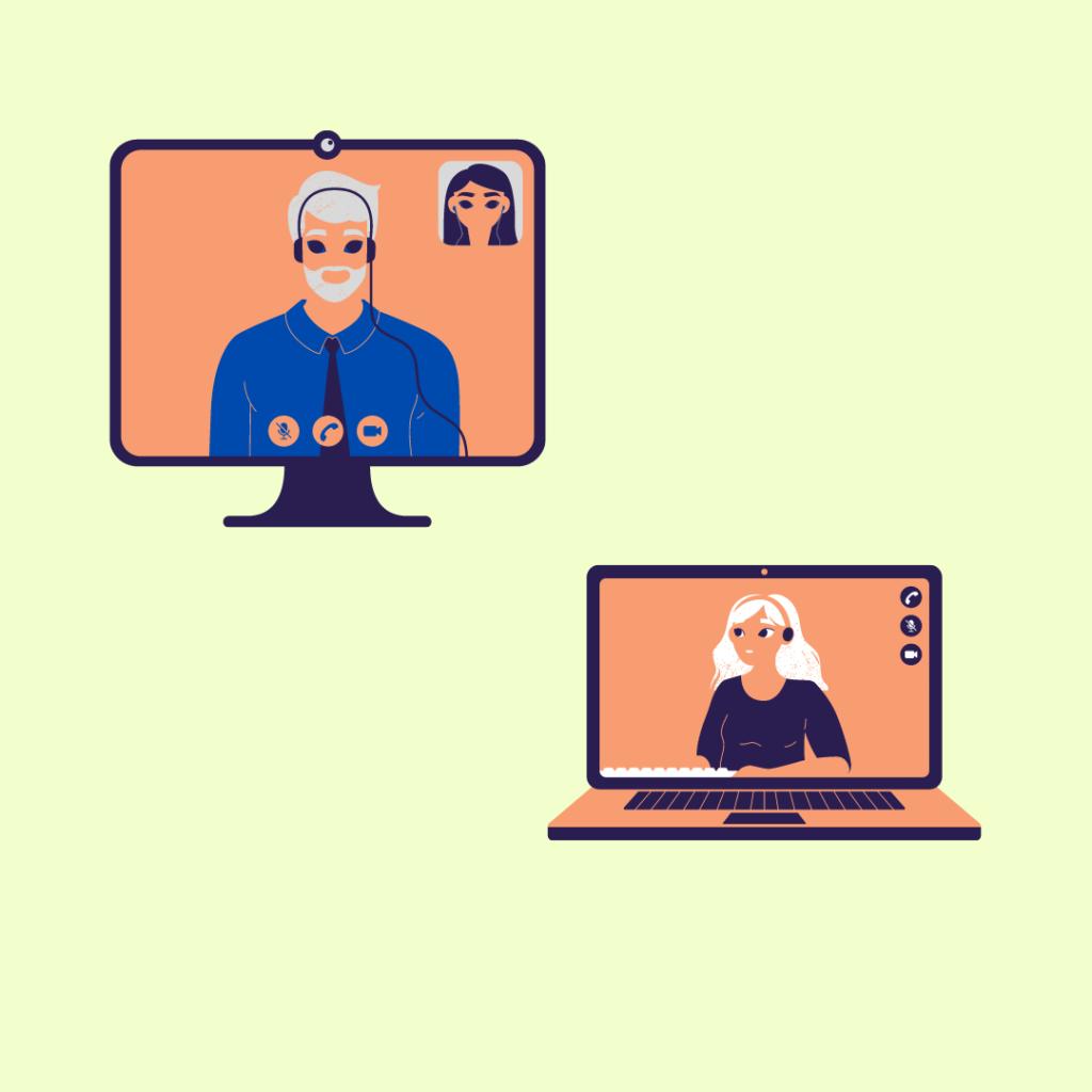 Egy online tanfolyam során az oktató és az oktatott földrajzilag bárhol lehet, ahol internetkapcsolat van.
